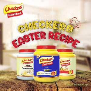WIN TV/Fan/Dry iron + A Carton of Checkers Custard in #checkerseasterrecipe Challenge.