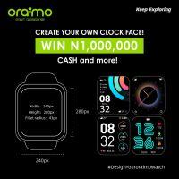 Win N1,000,000 Cash in Oraimo #DesignYourOraimoWatch Challenge.