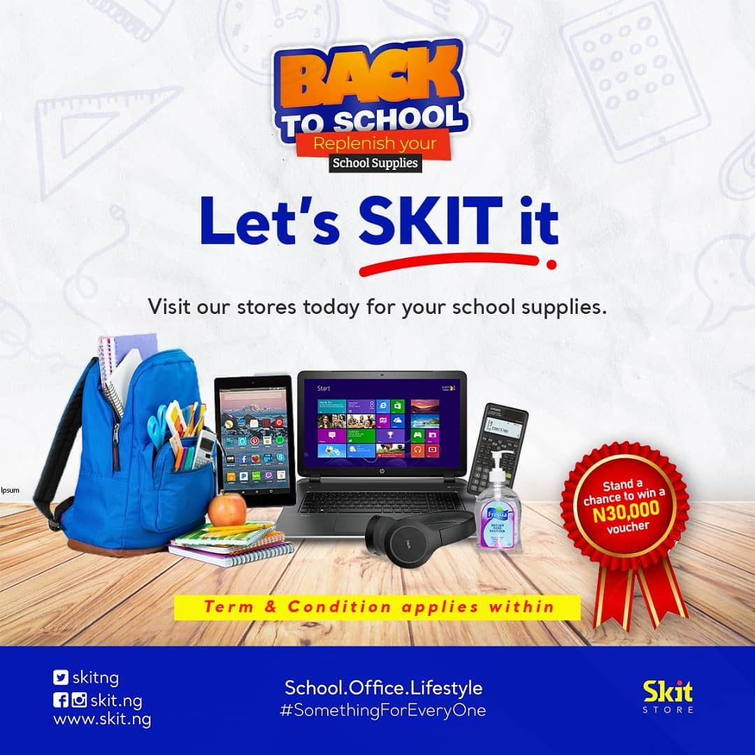 Win N30,000 Shopping Voucher in Skit.ng Back to School Giveaway.