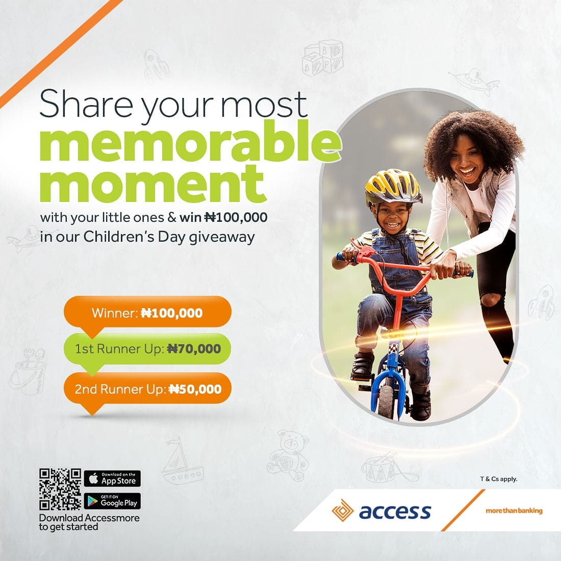 Win N100k in Access Bank Childrens Day Giveaway.