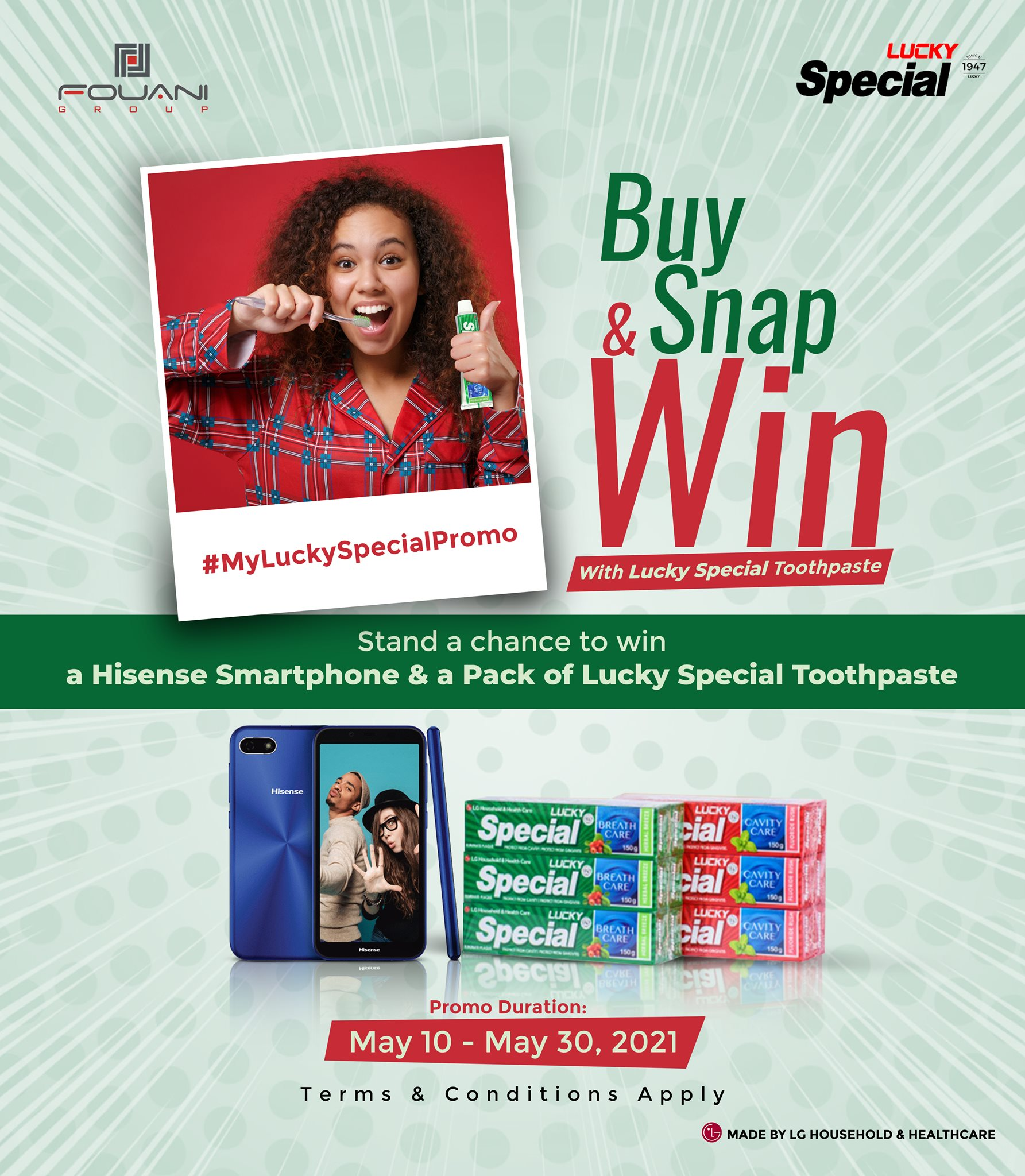 """Win a Smartphone in """" Lucky Special Toothpaste """" Buy, Snap and Win Promo."""