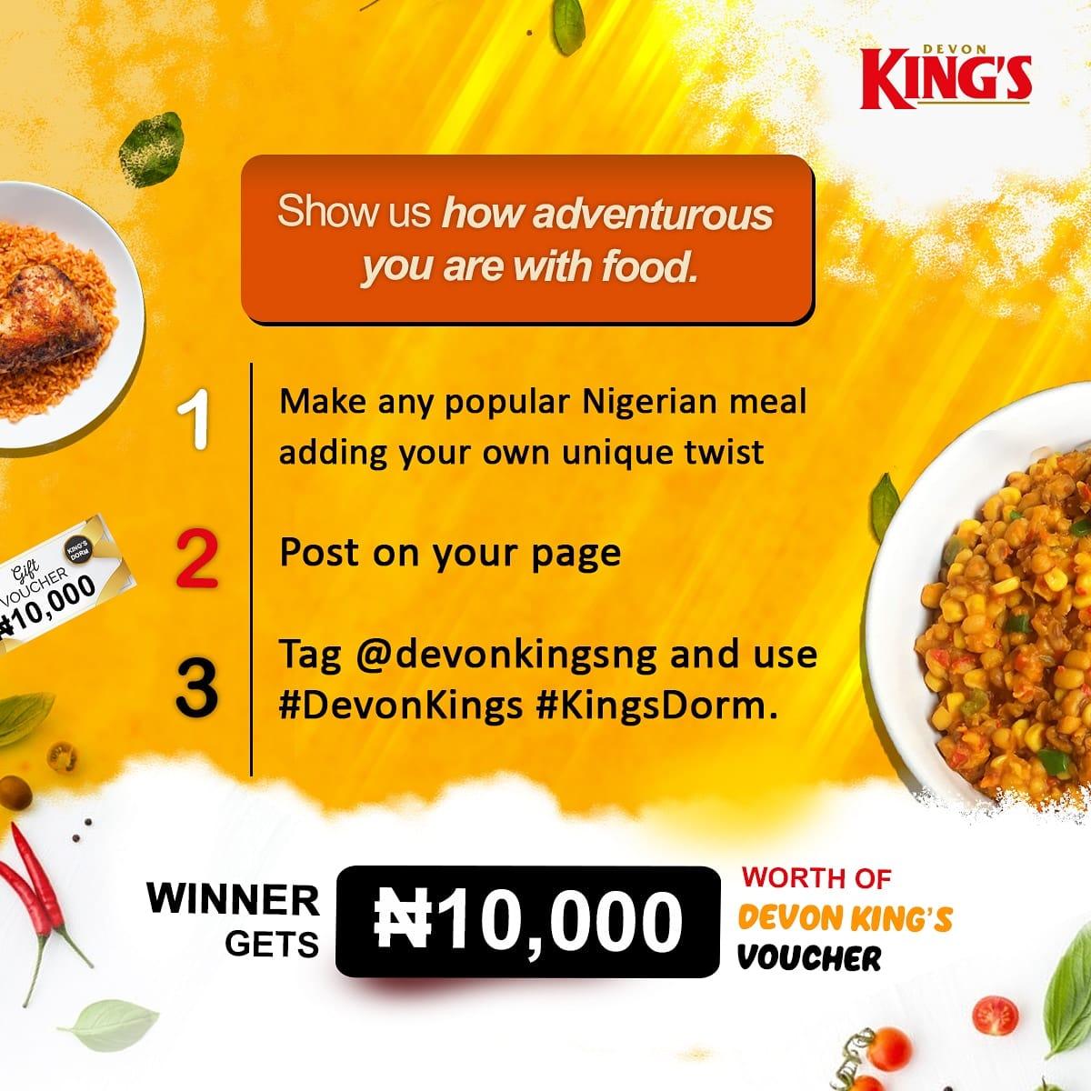 Win N10,000 Shopping Vouchers with Devon Kings.