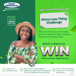 Win Appliances in Thermocool Giveaway.