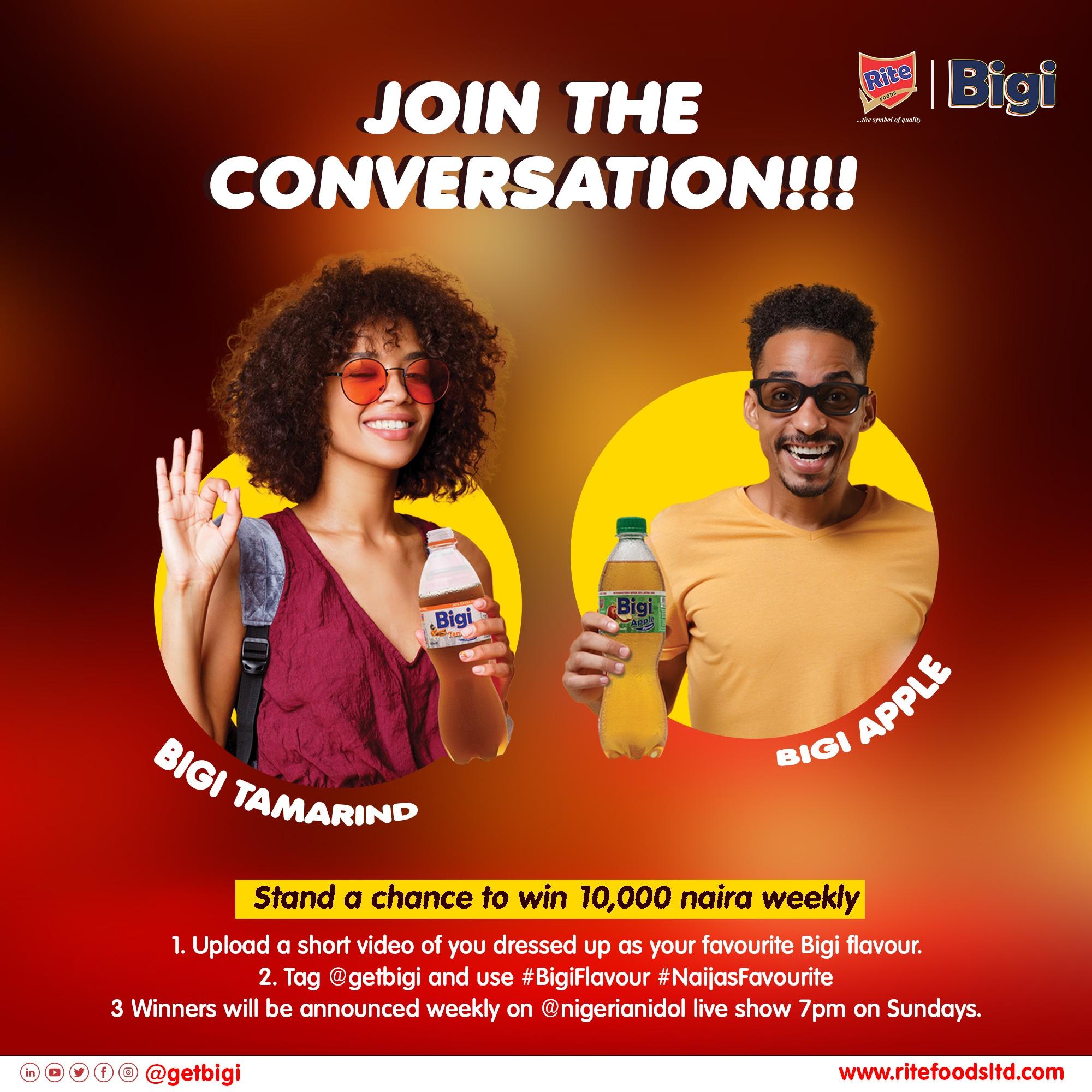 URGENT: Bigi Drinks and Nigerian Idol N10k Weekly Giveaways.