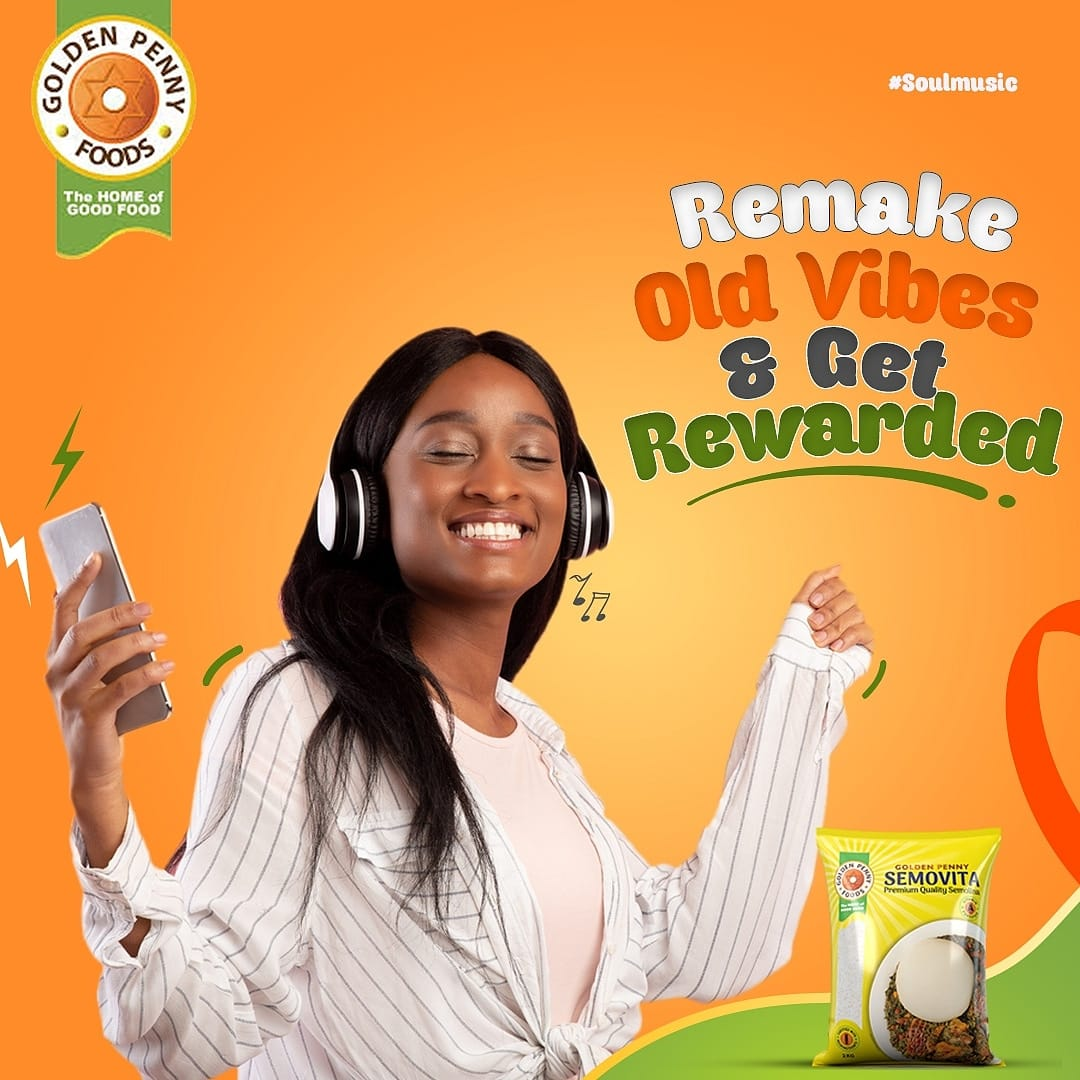 """Win N100,000 Cash in Golden Penny """"Remake Old Vibes and Win Challenge""""."""