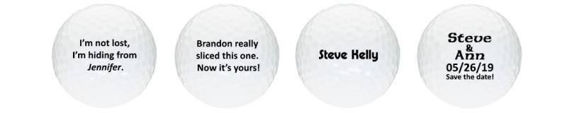 Relatively A Dozen Fun Custom Printed Golf Ball Imprint Ideas CA99