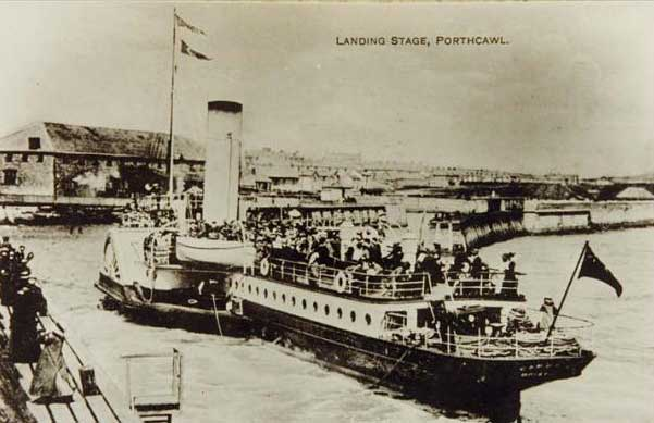 The paddle steamer 'Waverley' leaving, Porthcawl, c.1909
