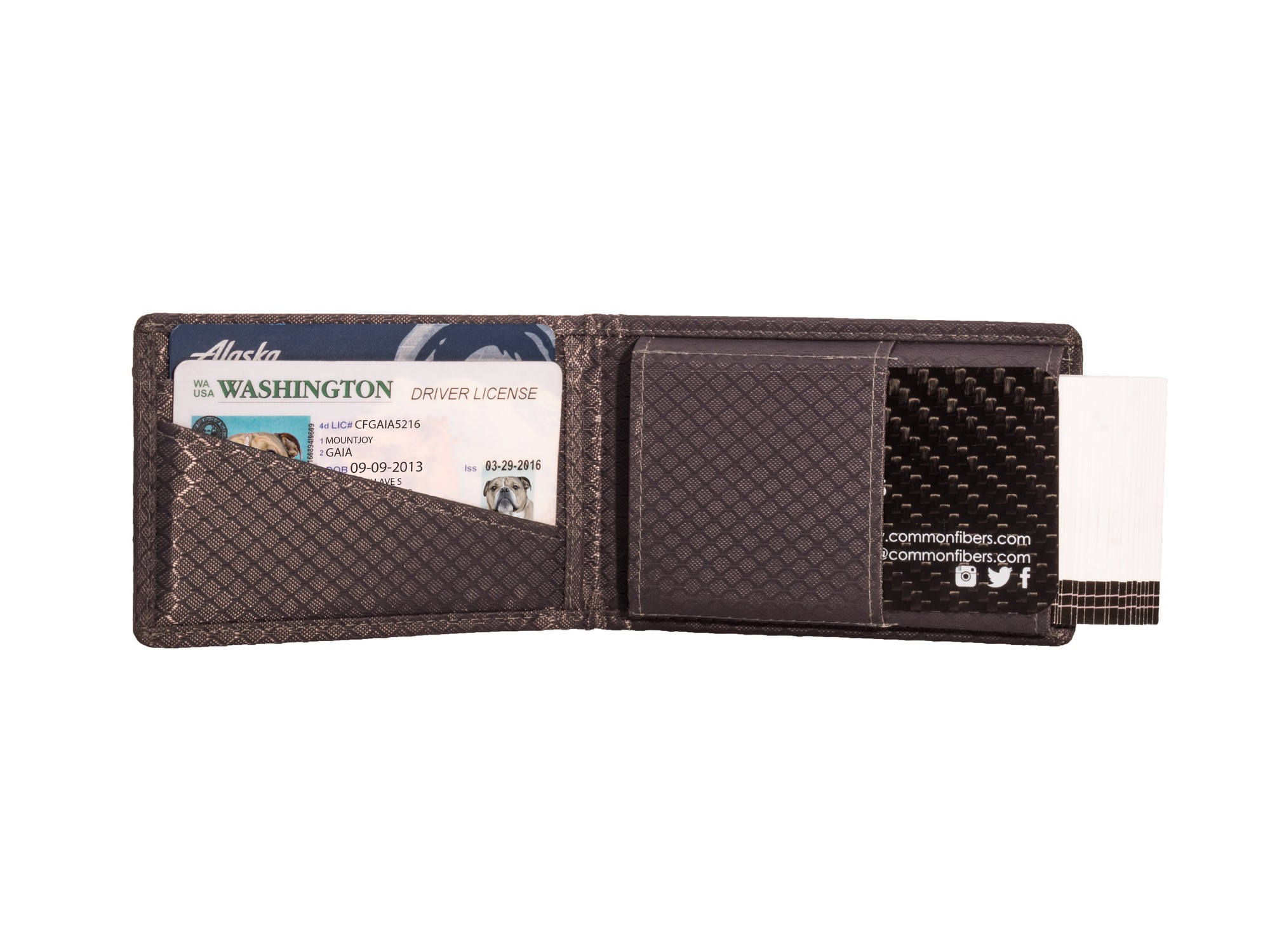 Common Fibers - Carbon Fiber Business Card Holder Wallet Interior