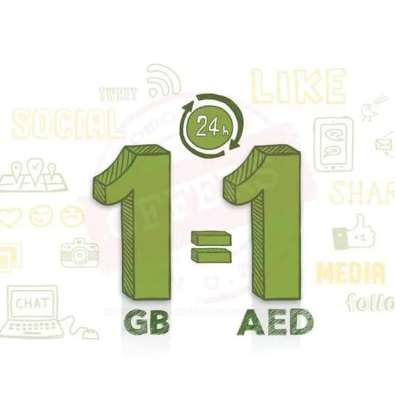 AED 1 = 1 GB new etisalat data plan - Promotionsinuae
