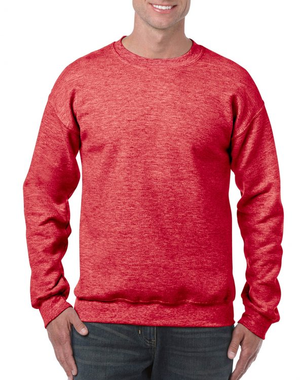 Gildan Heavy Blend Adult Crewneck Sweatshirt Heather Sport Scarlet Red Small (18000) 1 | | Promotion Wear