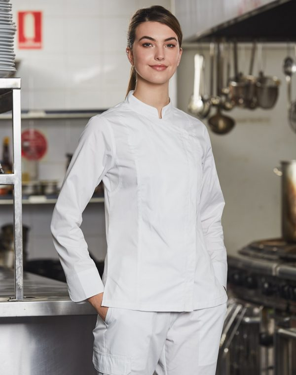 CJ04 LADIES FUNCTIONAL CHEF JACKETS