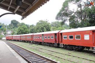 Train Ride from Kandy to Nuwara Eliya - Diesel Train
