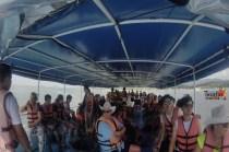 Island Hopping in Phuket - Tourists on Board the Ferry - James Bond Island Hopping