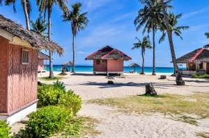 small beach huts