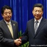 Premierul japonez Shinzo Abe si presedintele chinez Xi Jinping