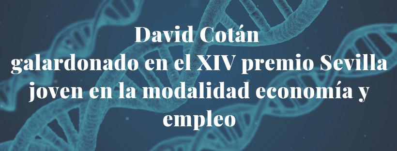 David Cotán, galardonado en el XIV premio Sevilla joven en la modalidad economía y empleo