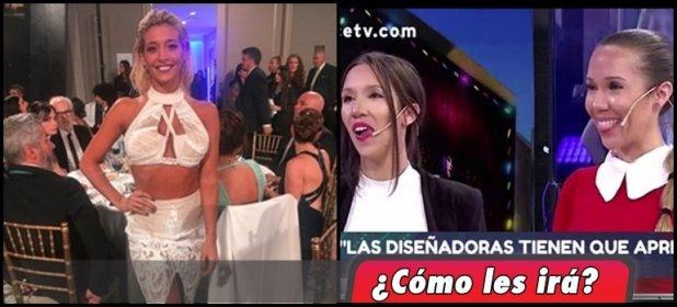 Las mellizas de Corte y Confección fueron las diseñadoras del polémico vestido de Sol Pérez para los Martín Fierro 2018