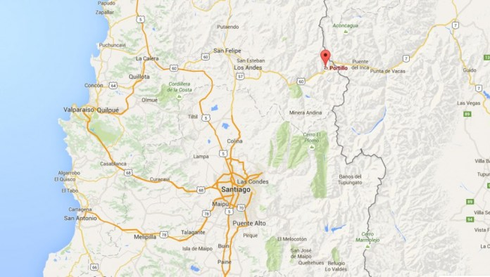 Localização Portillo - Chile - Google