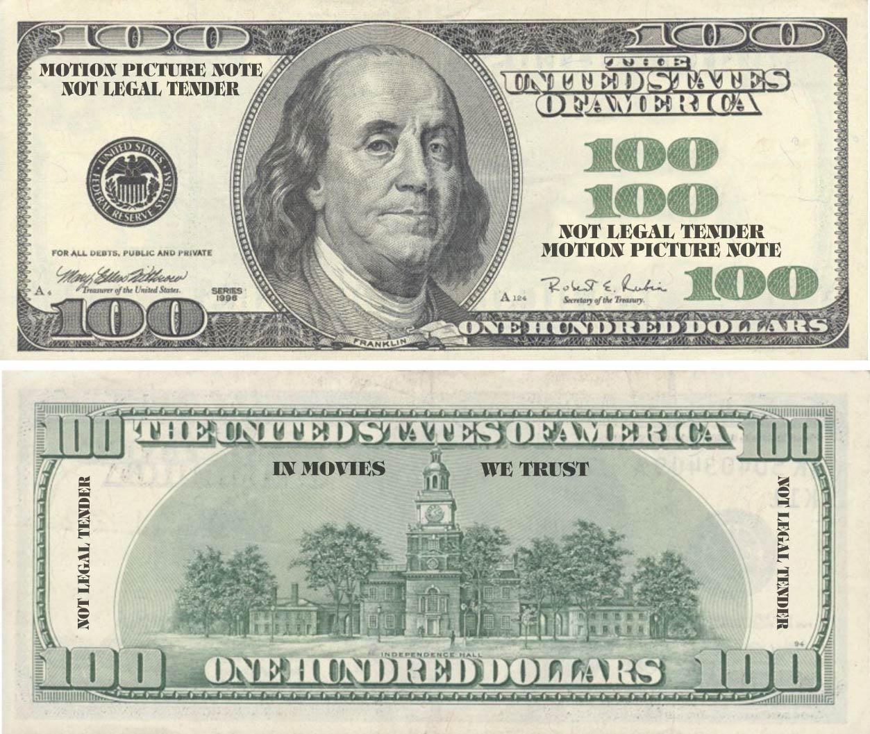 100 Dollar Bills Play Money