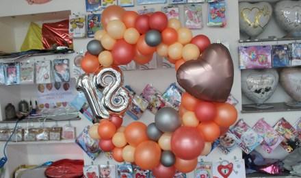 Ballonrundbogen zum Aufhängen