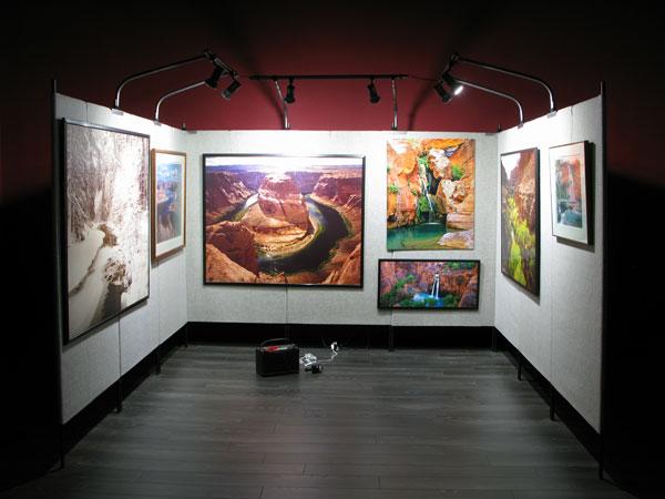battery powered art show booth lighting