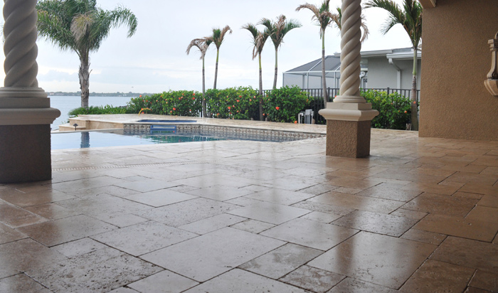 Sealed Paver Driveway And After