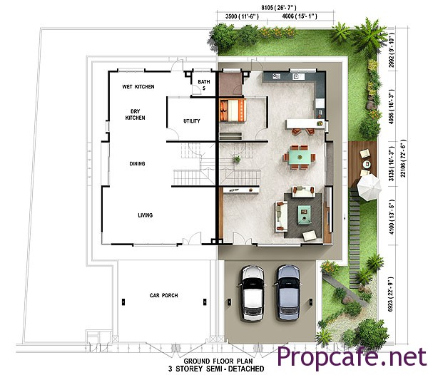floor-plan-3-storey-semi-detached-caribea-ground-floor