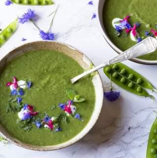 Pea and Samphire Soup