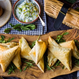 Mash Filo Parcels with Vale of Mowbray Pies