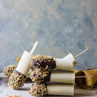 Summer ice lolly recipe: mint ice cream coated in dark chocolate