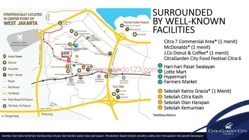 CitraGarden City Jakarta Barat - Site PlanDikelilingi Fasilitas Utama   Propertindo123.com