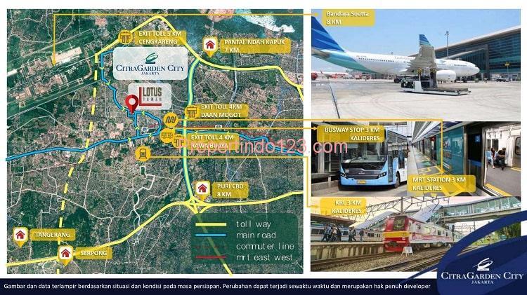 CitraGarden City Jakarta Barat - Peta Lokasi   Propertindo123.com