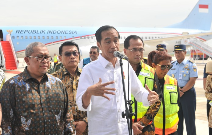 Presiden Jokowi Mendarat Perdana di Bandara Kertajati-setkab.go.id