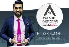 Meet our Awesome Agent for September, Hitesh Kumar from Premier Estates Real Estate Brokers