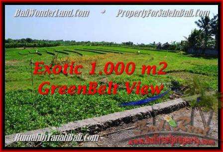 FOR SALE Magnificent PROPERTY 1,000 m2 LAND IN CANGGU TJCG184