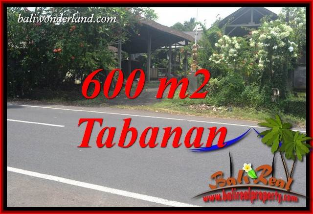 Exotic 600 m2 Land sale in Tabanan Bali TJTB400