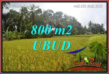 Exotic Property 800 m2 Land sale in Sentral Ubud Bali TJUB707