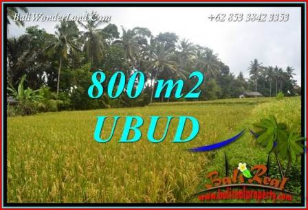 Exotic Property 800 m2 Land sale in Sentral Ubud Bali TJUB707