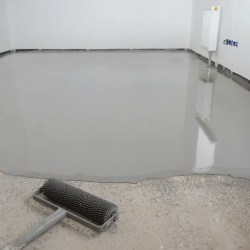 Self Leveling Epoxy Floor Coating During Applicaint For Benefits of Commercial Floor Coatings for Property Managers Blog