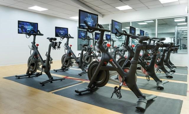 Peloton Bikes In Apartment Fitness Center