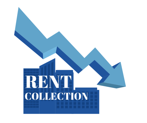Declining Arrow Over Rent Collection