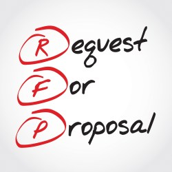 Request For Proposal In Red And Black Sharpie For Property Manager Insider BidSource