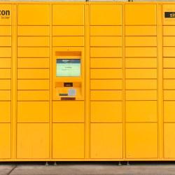 Yellow Amazon Apartment Lockers At Multifamily Properties