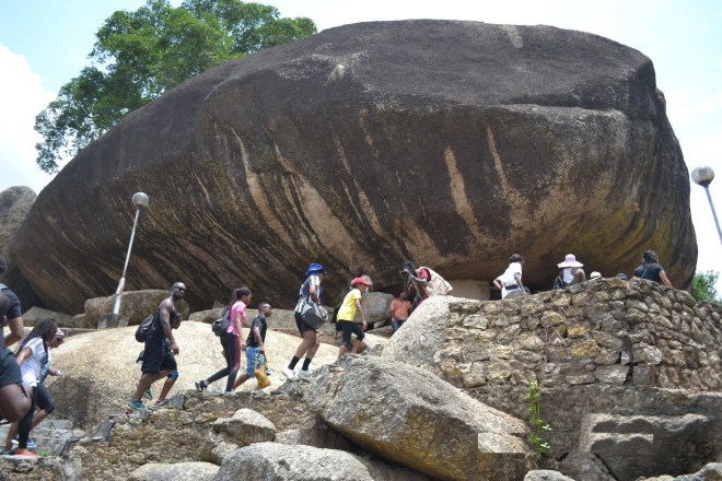 Image result for Olumo Rock in Abeokuta