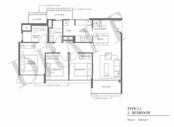 Botanique @ Bartley Floor Plan