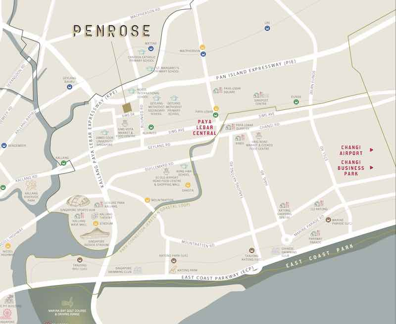 Penrose Condo Location Map
