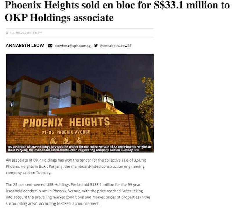 Phoenix Residences Price Enbloc