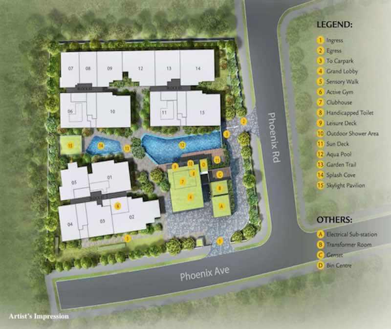 Phoenix Residences Site Plan