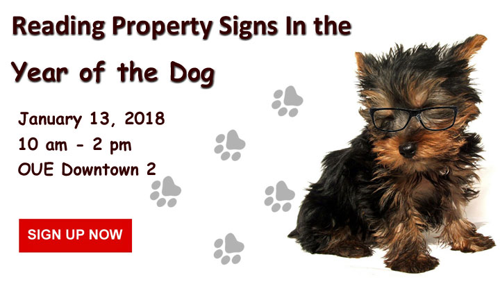 Reading Property Signs in the Year of the Dog