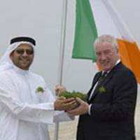 John O'Dolan with GM of The World project in Dubai